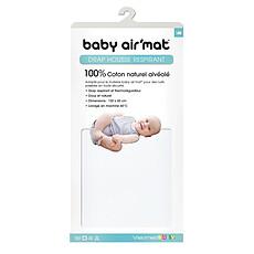 Achat Linge de lit Drap Housse Baby Air'Mat Blanc - 60 x 120 cm