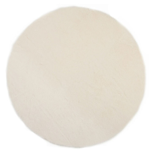 Pilepoil tapis rond fausse fourrure blanc 140 cm tapis pilepoil sur l 39 armoire de b b - Tapis blanc fausse fourrure ...