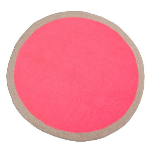 Muskhane Tapis Rond Lumbini 120 Cm Ultra Rose Tapis Muskhane Sur