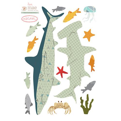 love mae mini stickers requins sticker love mae sur l. Black Bedroom Furniture Sets. Home Design Ideas