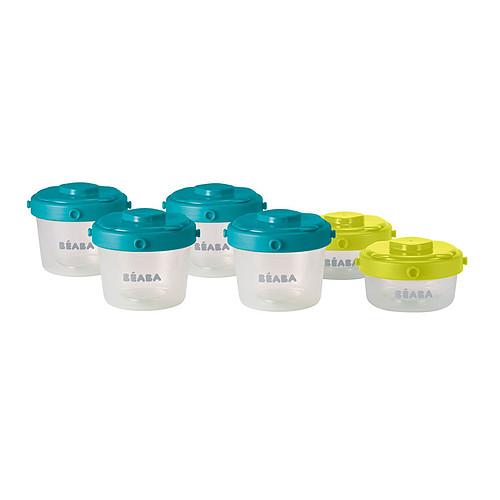 Vaisselle & Couvert Lot de 6 Portions Clip 1er âge 120 et 60 ml - Bleu/Vert Lot de 6 Portions Clip 1er âge 120 et 60 ml - Bleu/Vert