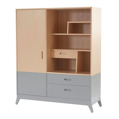 Nobodinoz armoire horizon gris metropolis armoire - L armoire de bebe ...