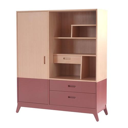 nobodinoz armoire horizon rouge orient armoire. Black Bedroom Furniture Sets. Home Design Ideas