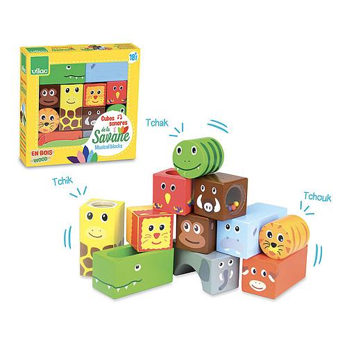 Mes premiers jouets Cubes sonores Animaux de la Savane Cubes sonores Animaux de la Savane