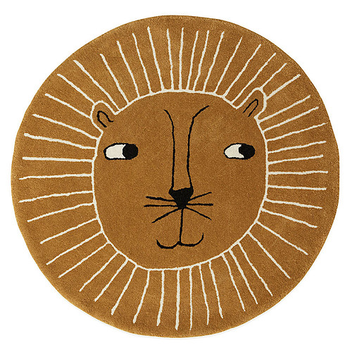 Tapis Tapis Lion Caramel - Ø 95 cm Tapis Lion Caramel - Ø 95 cm