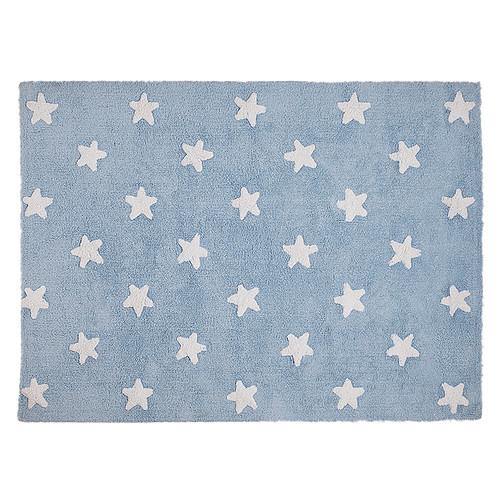Tapis Tapis Lavable Etoile Bleu et Blanc - 120 x 160 cm Tapis Lavable Etoile Bleu et Blanc - 120 x 160 cm