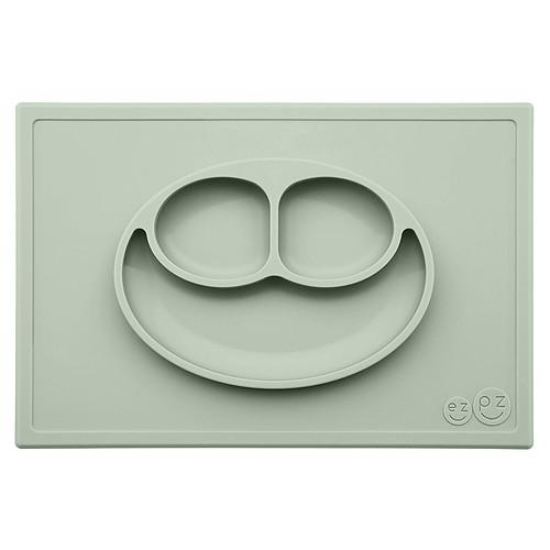 Vaisselle & Couvert Set de Table et Assiette Tout-en-1 Irrenversable Happy Mat - Vert Amande