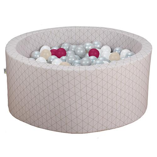 Mes premiers jouets Piscine à Balles Ronde Graphic Chic & Rose 90 x 40 cm + 200 Balles Piscine à Balles Ronde Graphic Chic & Rose 90 x 40 cm + 200 Balles
