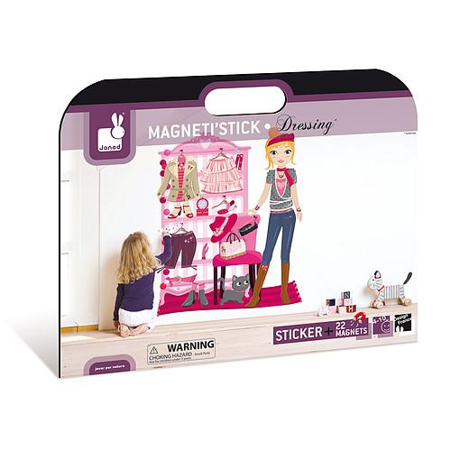janod magneti 39 stick dressing sticker janod sur l 39 armoire. Black Bedroom Furniture Sets. Home Design Ideas