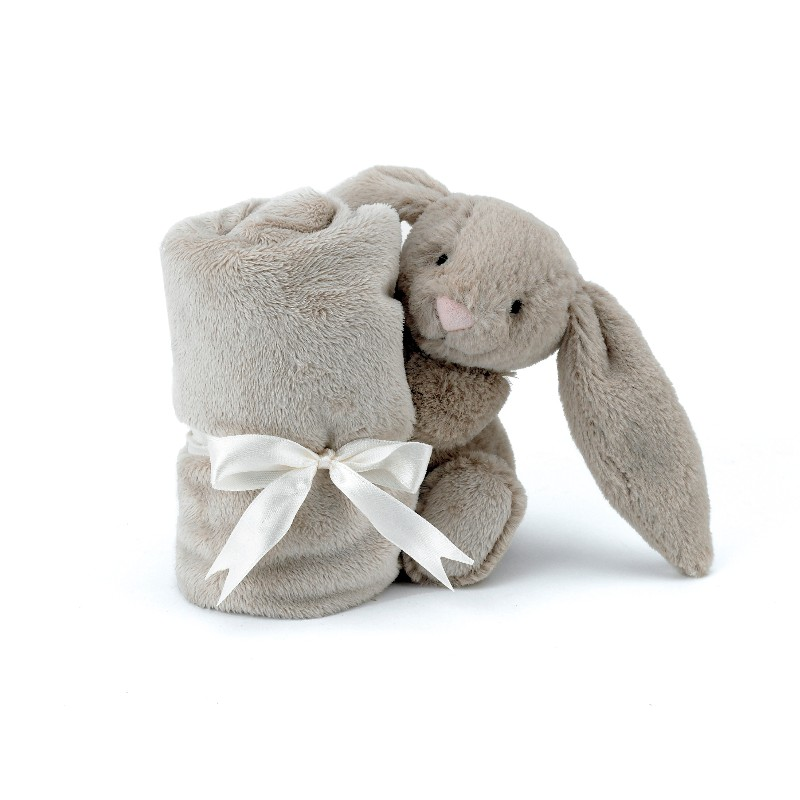 Doudou Blossom Bashful Bunny Beige Soother - Peluche lapin 33 cm Blossom Bashful Bunny Beige Soother - Peluche lapin 33 cm