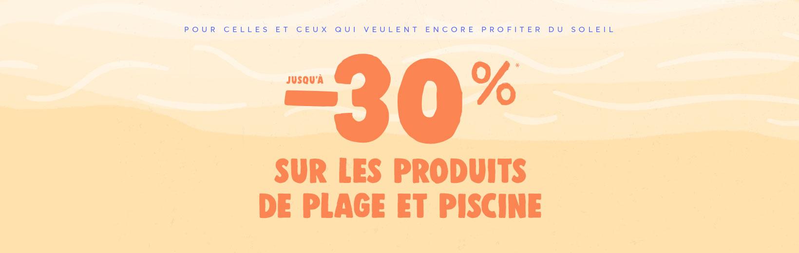-20%* sur les produits de plage et piscine